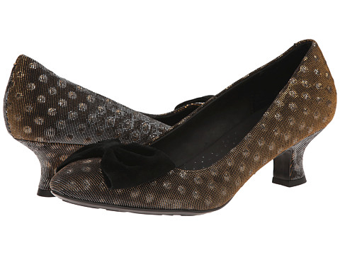 Born - Isie - Crown Collection (Black/Gold Polka Dot Metallic) Women