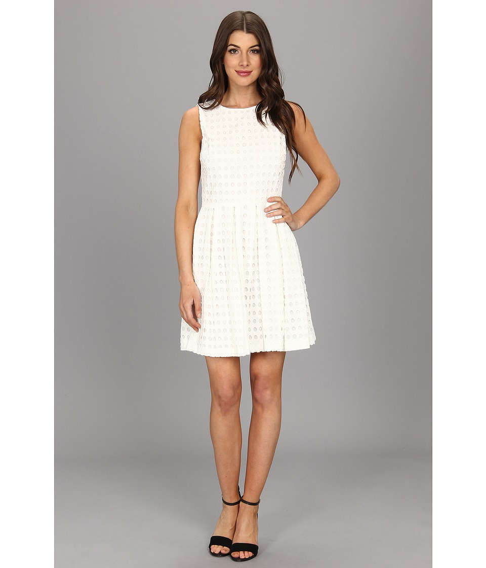 Vince Camuto - Circle Eyelet Dress (New Ivory) Women's Dress