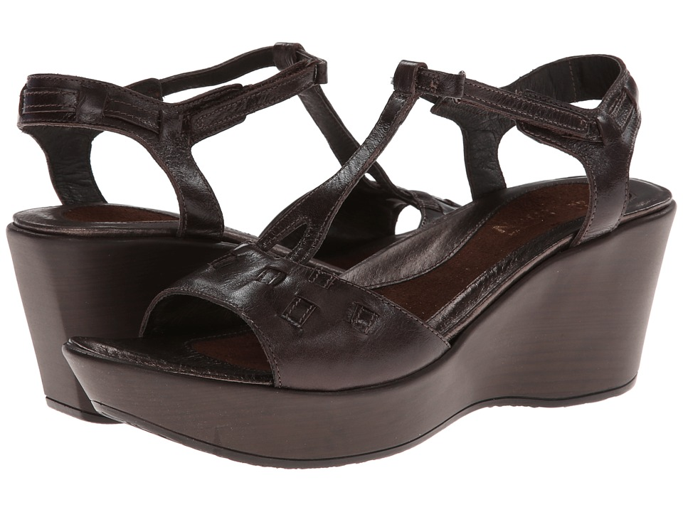Naot Footwear - Play - Exclusive (Espresso Leather) Women's Wedge Shoes