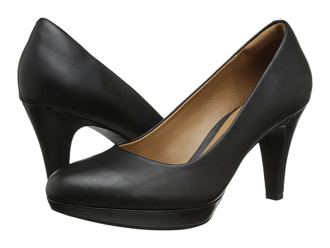 Clarks - Brier Dolly (Black Leather) Women's Shoes