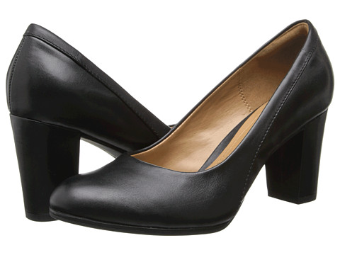 Clarks - Basil Auburn (Black Leather) High Heels