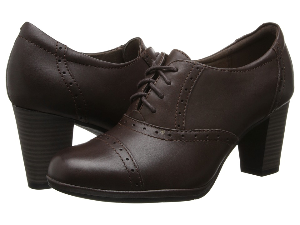 Clarks - Brynn Marina (Brown Leather) Women's Shoes