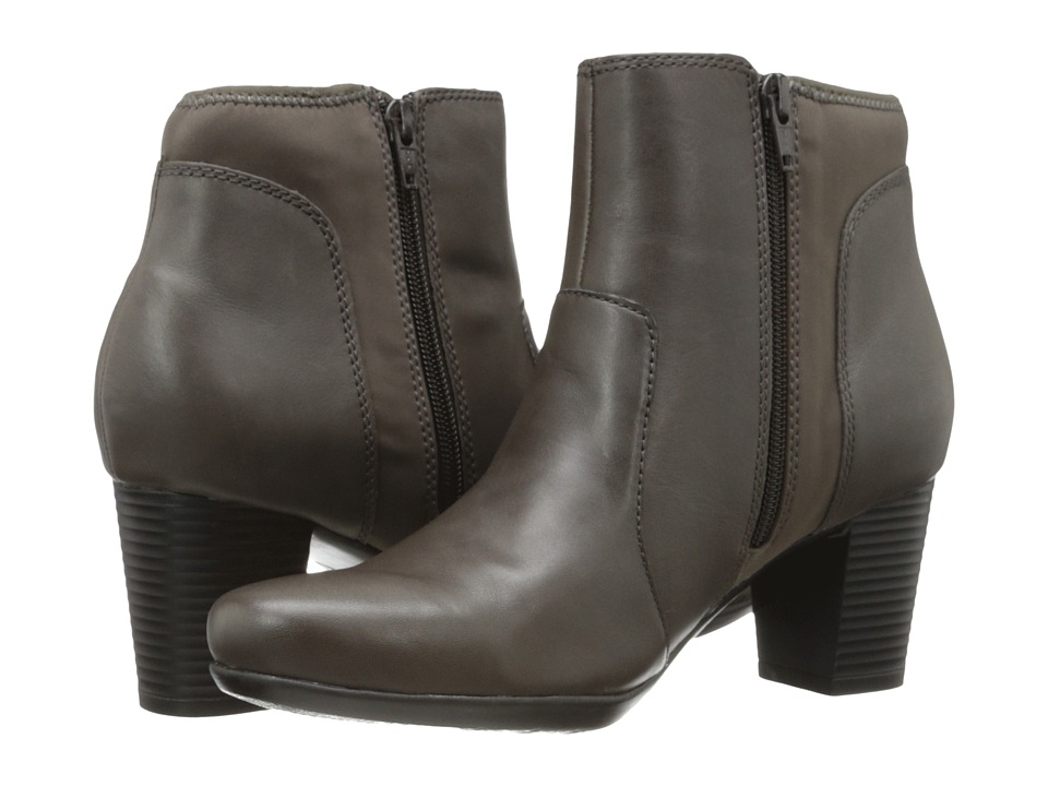 Clarks - Promise Camp (Grey Leather) Women's Zip Boots