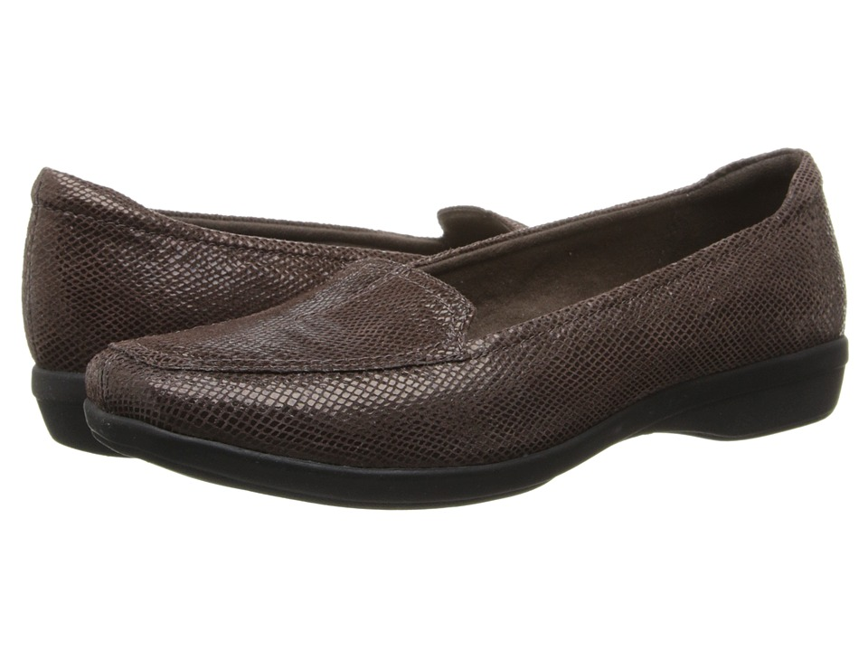 Clarks Haydn Harvest (Brown Lizard Print Leather) Women