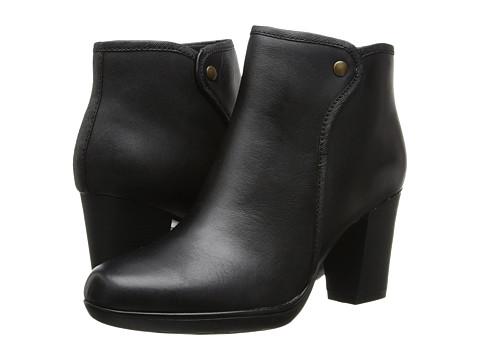 Clarks - Halia Perch (Black Leather) Women's Shoes