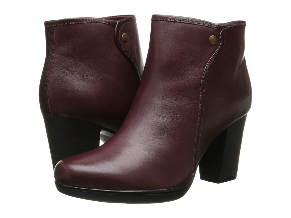 Clarks - Halia Perch (Burgundy Leather) Women's Shoes