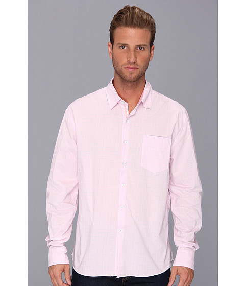 Arnold Zimberg - Single Pocket Long Sleeve Mini Check (Pink) Men