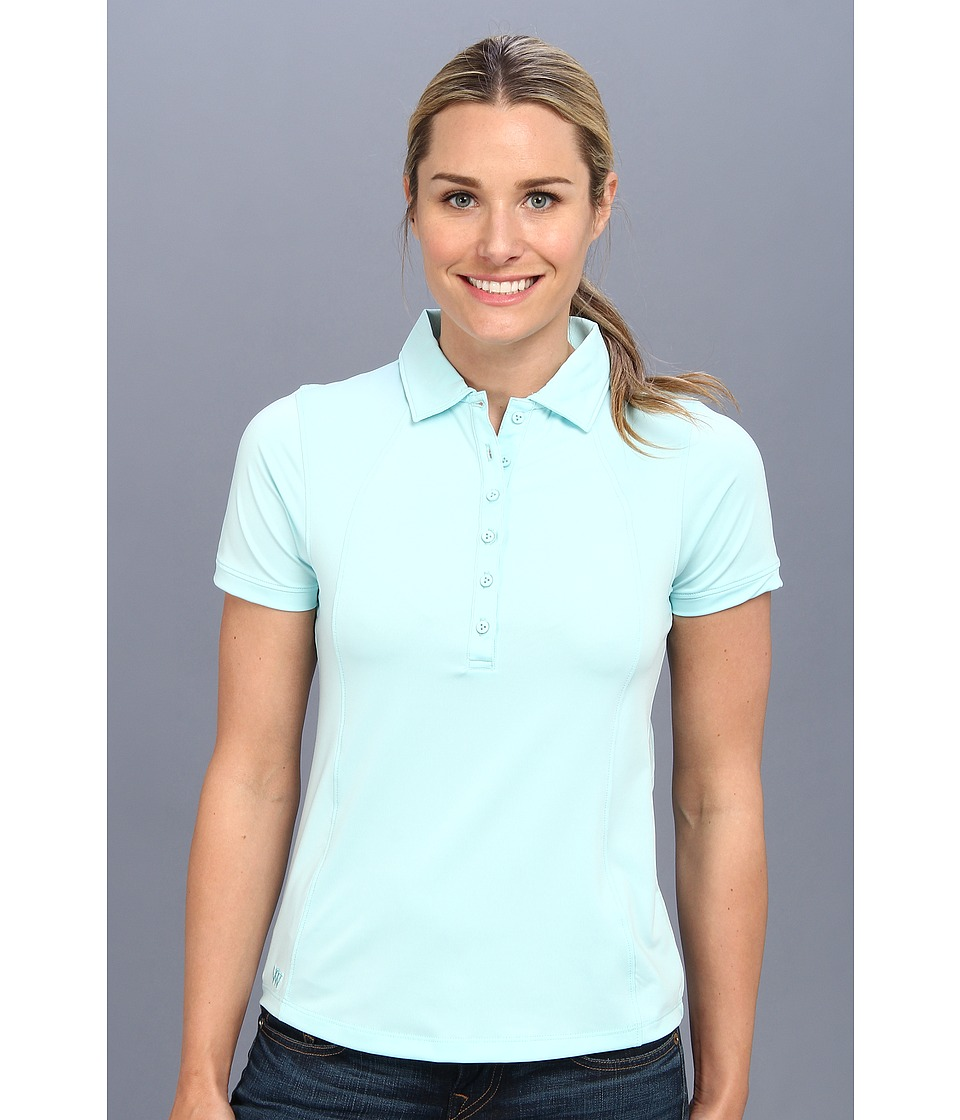 Heather Grey - Lolo Polo (Doll Baby Blue) Women's Short Sleeve Knit
