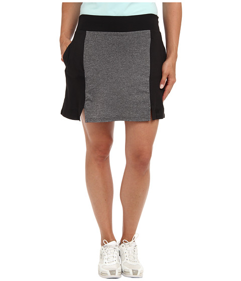 Heather Grey - Kaitlin Skort (Charcoal Basketweave/Black 1) Women