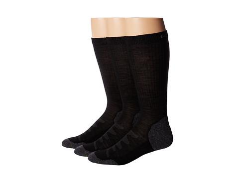 Keen Olympus Lite Crew 3-Pair Pack (Black) Men's Crew Cut Socks Shoes