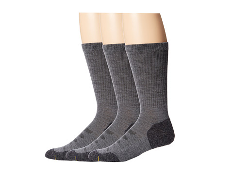 Keen Olympus Lite Crew 3-Pair Pack (Gray) Men's Crew Cut Socks Shoes
