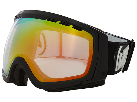 VonZipper - Feenom - N.L.S. (Black Gloss/Clear Chrome Orange) Snow Goggles