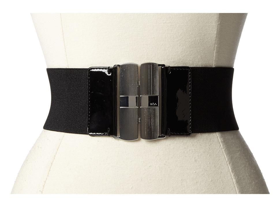 LAUREN Ralph Lauren - 2 5/8 Stretch Belt w/ Interlock Buckle (Black/Black) Women's Belts