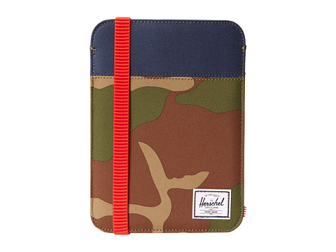 Herschel Supply Co. - Cypress Sleeve iPad Mini (Woodland Camo/Navy/Red) Computer Bags