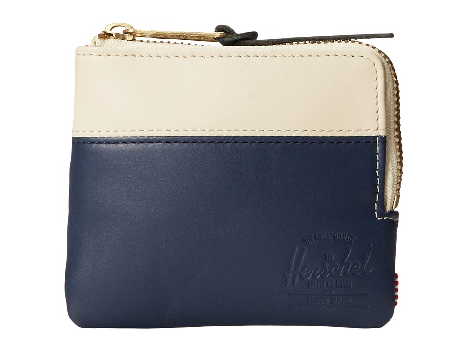 Herschel Supply Co. - Johnny Plus (Navy/Bone) Wallet Handbags