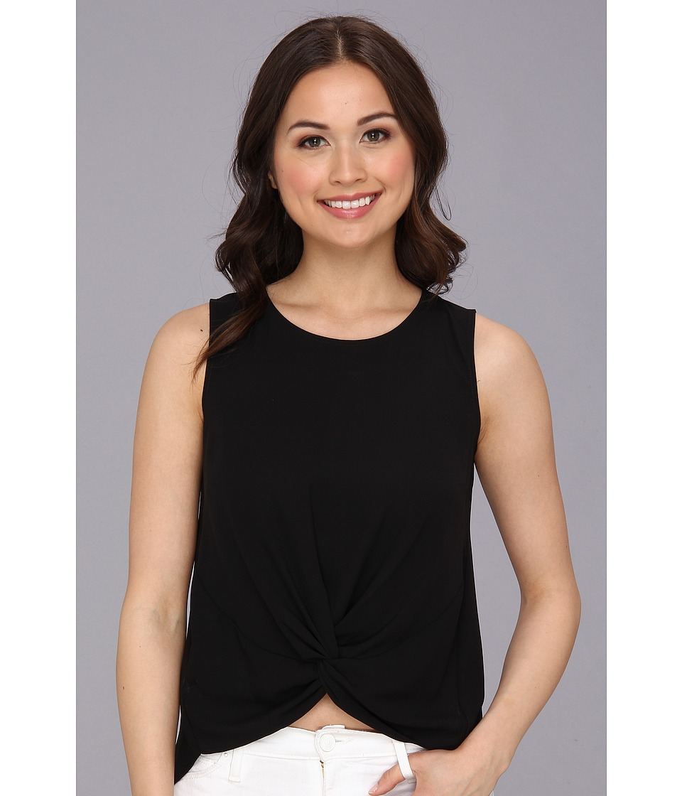 BCBGeneration - Woven Sportswear Tank (Black) Women's Sleeveless