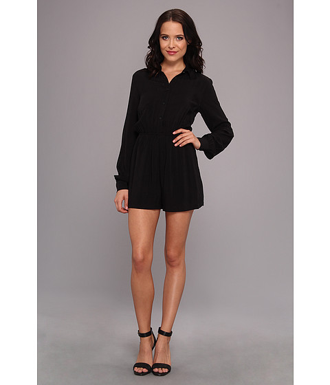 BCBGeneration - Woven Sportwear Jumper (Black) Women's Jumpsuit & Rompers One Piece