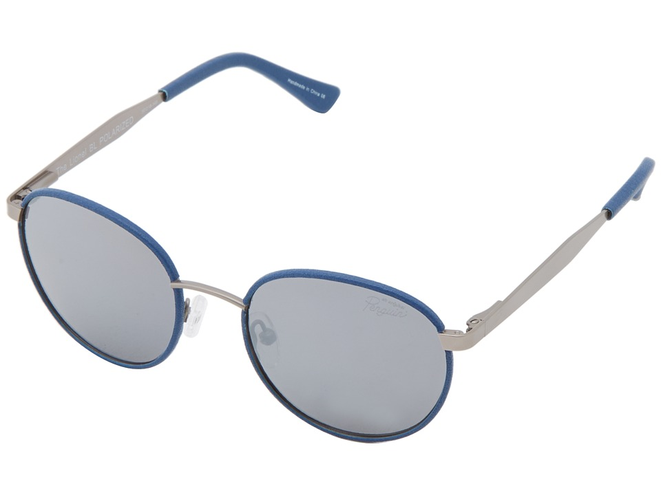 Original Penguin - The Lionel (Matte Gunmetal/Blue Leather) Fashion Sunglasses