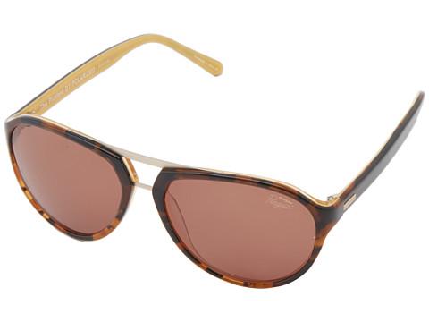 Original Penguin - The Pickford (Dark Tortoise/Yellow Laminate) Fashion Sunglasses