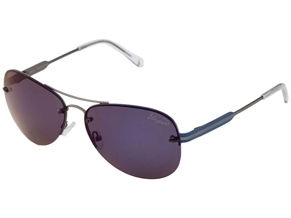 Original Penguin - The Bates (Matte Gunmetal Crystal Clear) Fashion Sunglasses