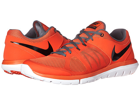 Nike - Flex 2014 Run (Team Orange/Dark Grey/White/Black) Men's Running Shoes