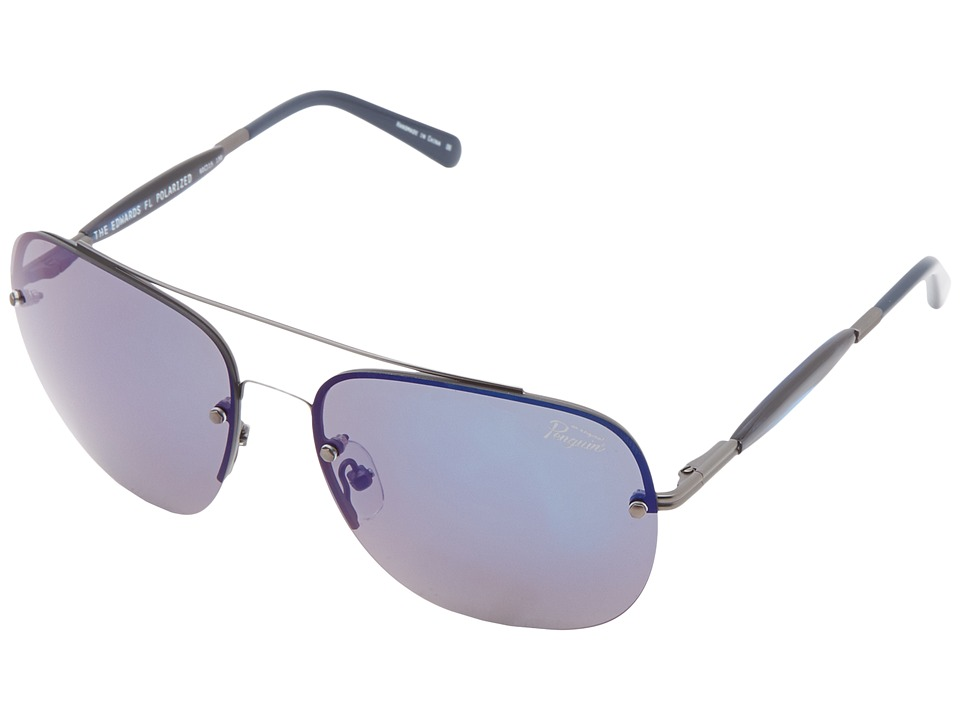 Original Penguin - The Edwards (Matte Gunmetal/Navy) Fashion Sunglasses