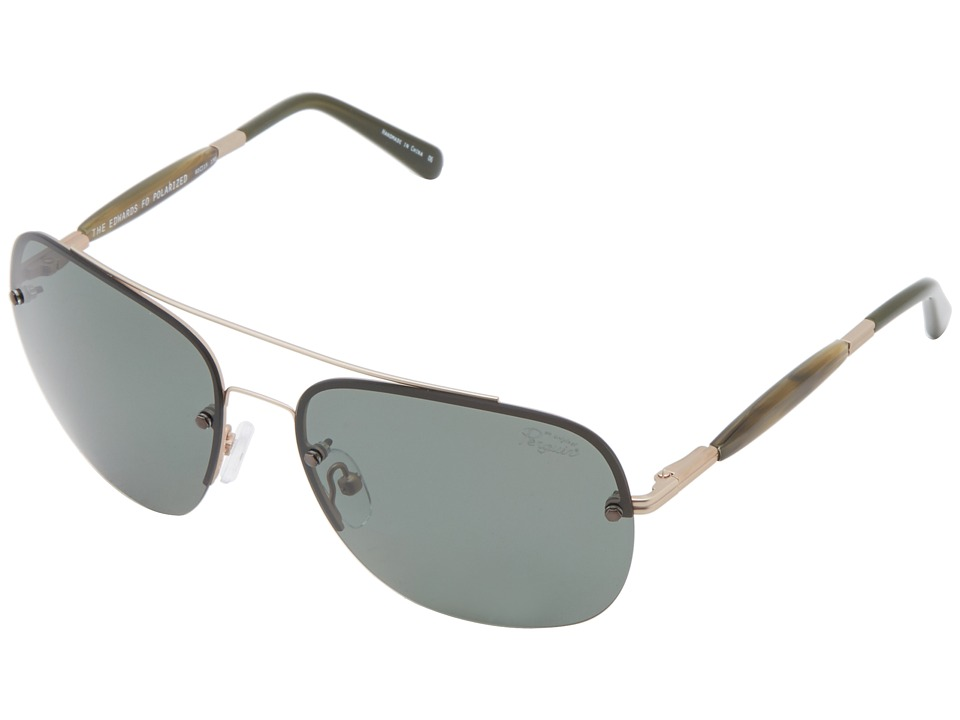 Original Penguin - The Edwards (Matte Gold/Olive) Fashion Sunglasses