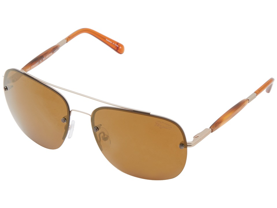 Original Penguin - The Edwards (Matte Gold/Amber) Fashion Sunglasses