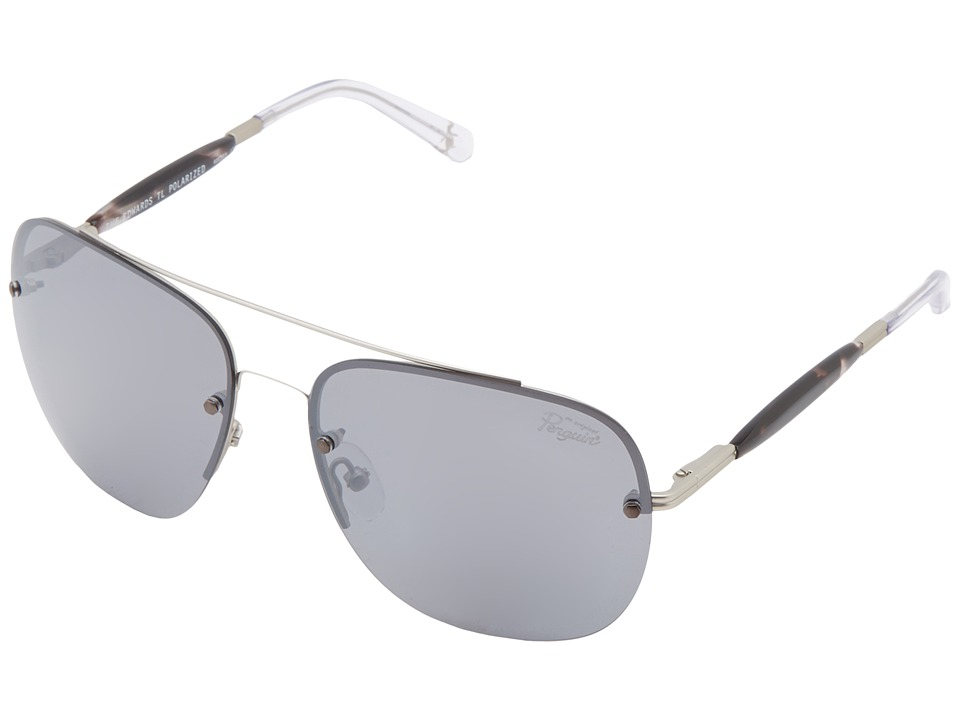 Original Penguin - The Edwards (Matte Silver/Silver) Fashion Sunglasses