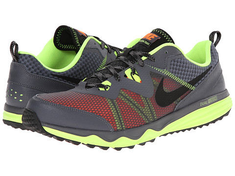 Nike - Dual Fusion Trail (Dark Grey/Volt/Hyper Crimson/Black) Men's Running Shoes