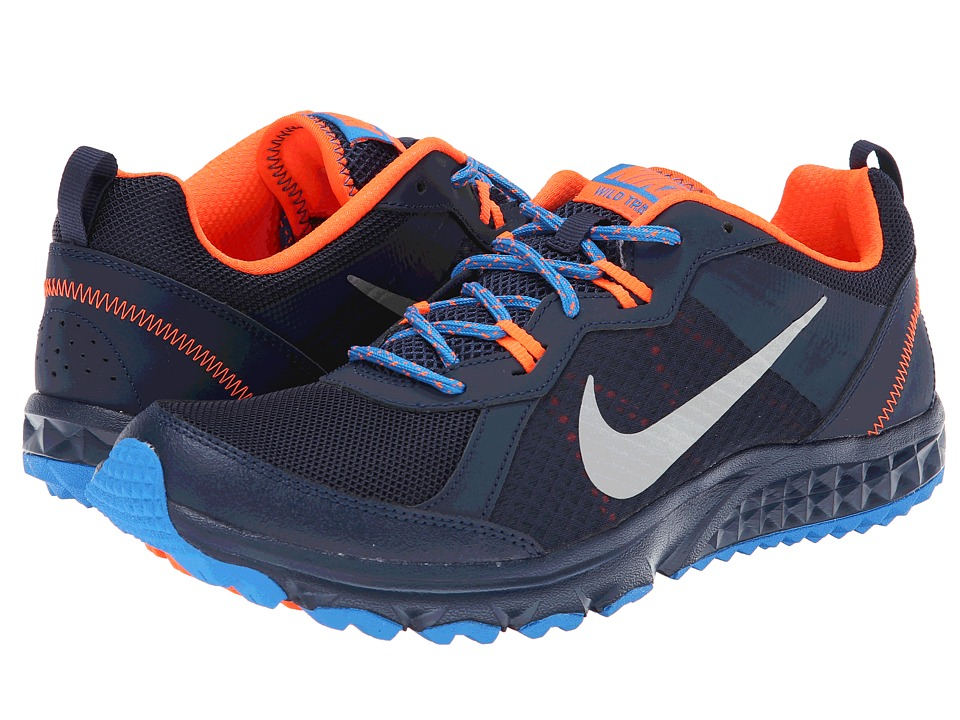 Nike - Wild Trail (Midnight Navy/Photo Blue/Hyper Crimson/Metallic Silver) Men's Running Shoes