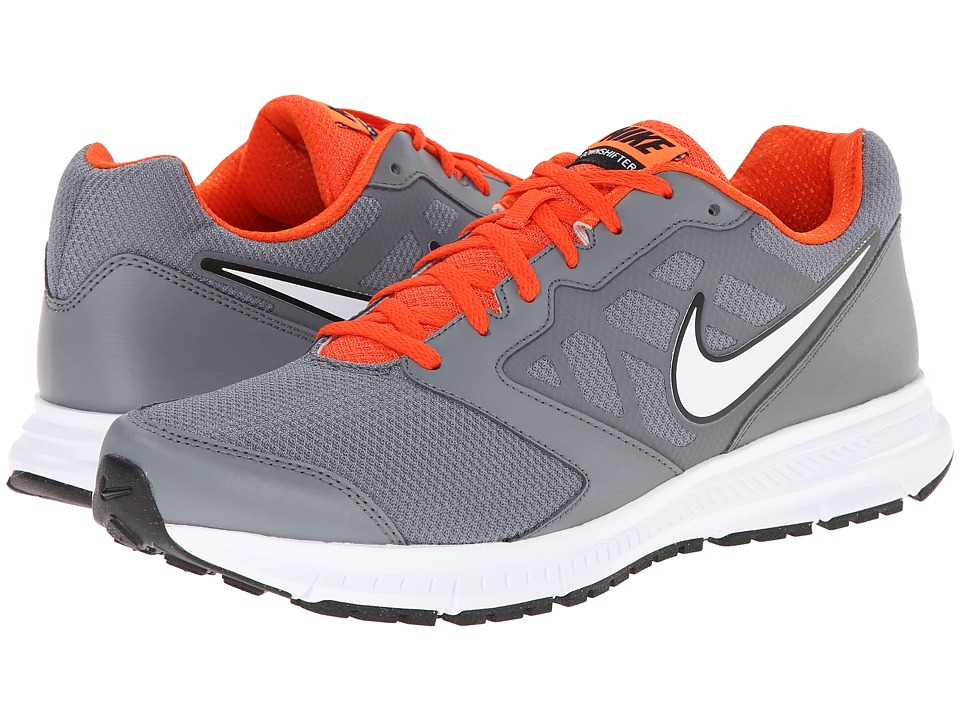 Nike - Downshifter 6 (Cool Grey/Team Orange/White/Metallic Platinum) Men's Running Shoes