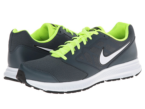Nike - Downshifter 6 (Dark Magnet Grey/Volt/White) Men's Running Shoes