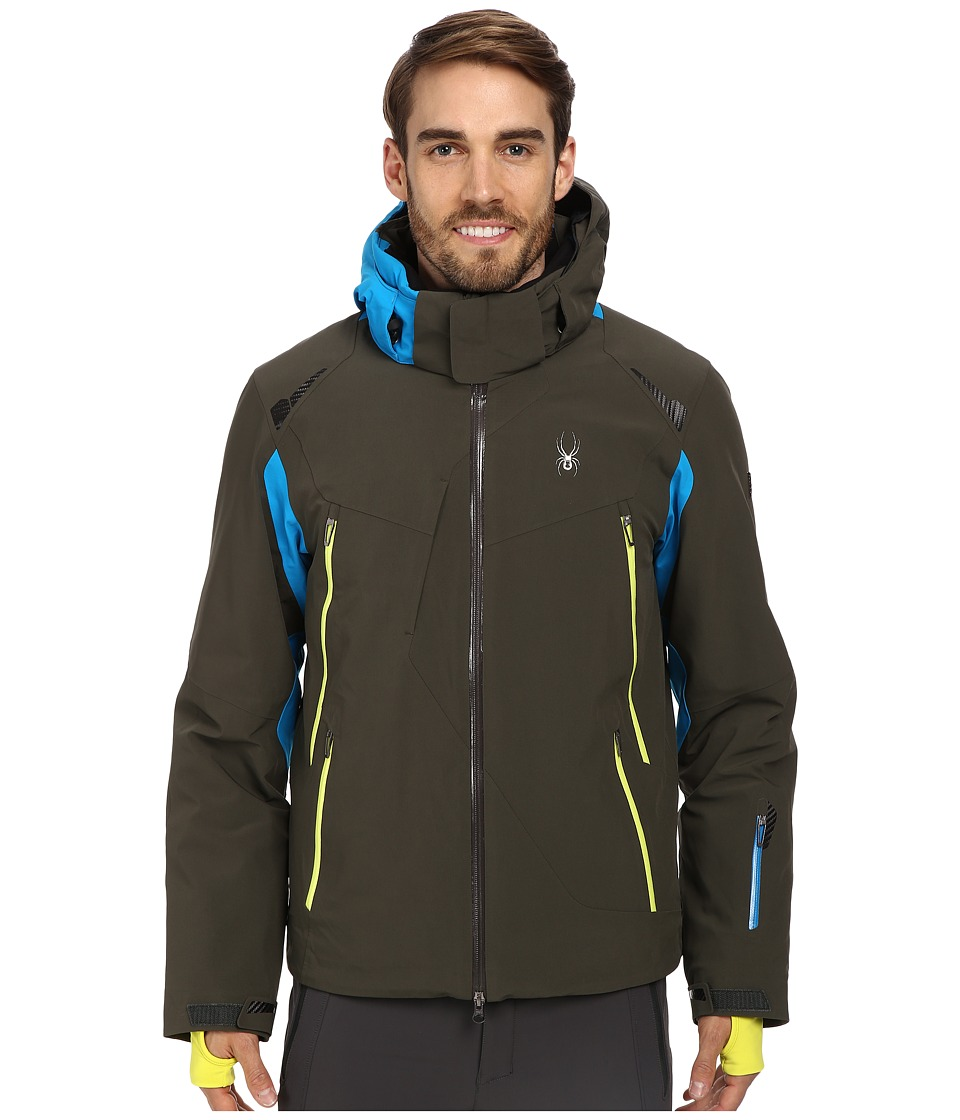 Spyder - Bromont Jacket (Osetra/Electric Blue/Acid) Men's Coat