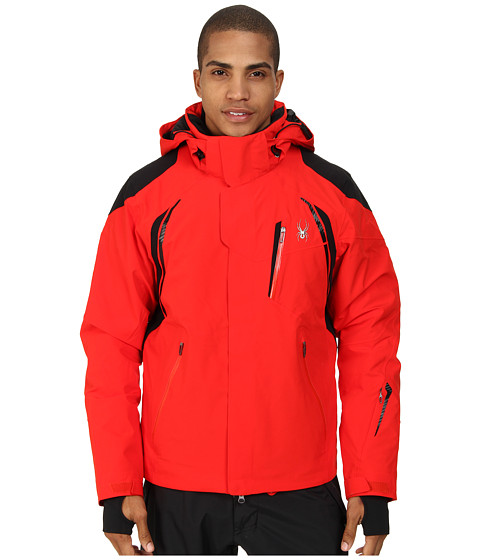 Spyder - Garmisch Jacket (Volcano/Black) Men's Coat