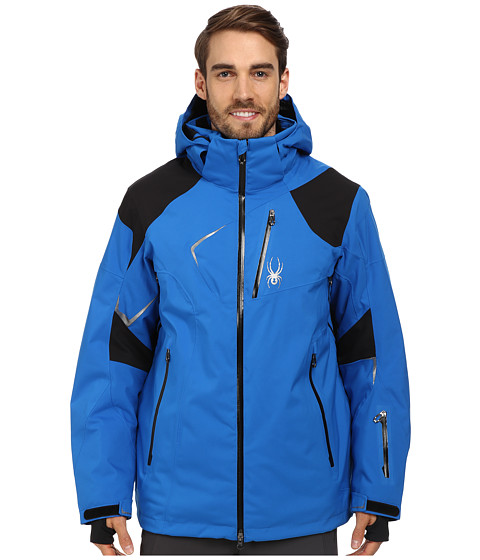 Spyder - Leader Jacket (Stratos Blue/Black/Stratos Blue) Men