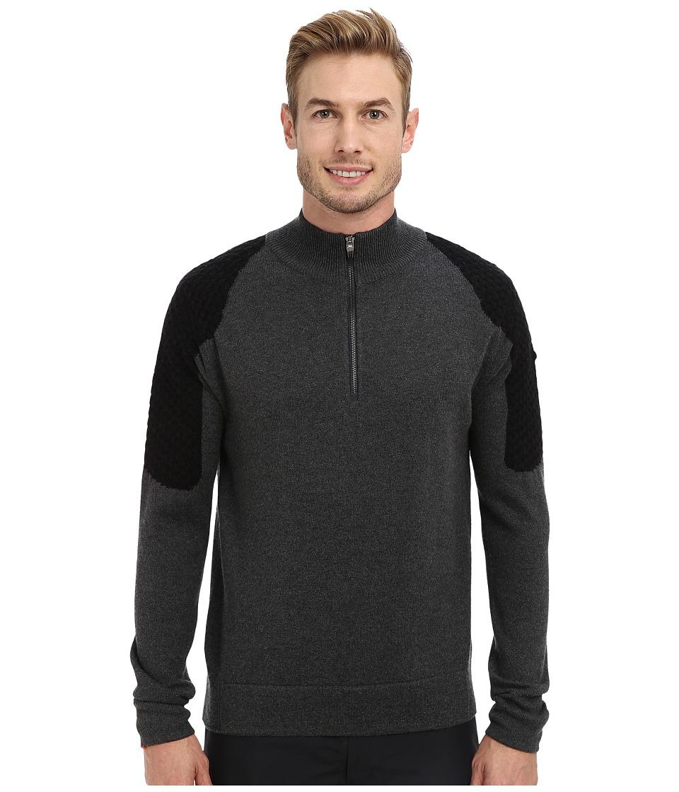 Spyder - Icon Sweater (Slate/Black/Slate) Men