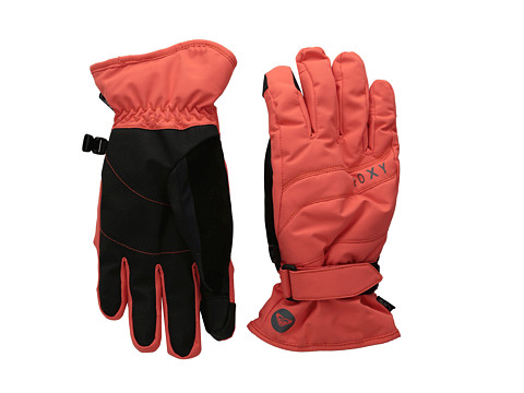 Roxy - Mouna Solid Glove (Hot Coral) Extreme Cold Weather Gloves