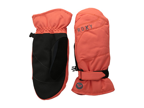 Roxy - Mouna Solid Mitt (Hot Coral) Extreme Cold Weather Gloves