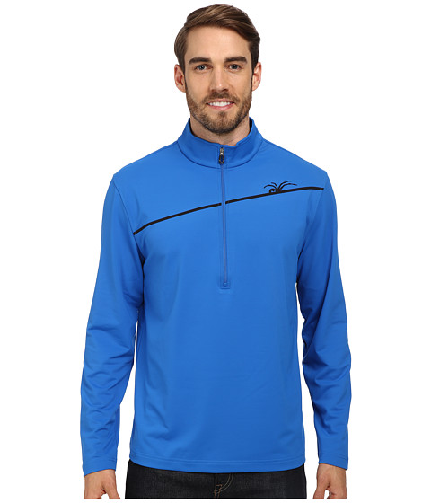 Spyder - Commander Therma Stretch T-Neck Top (Stratos Blue/Black) Men's Long Sleeve Pullover