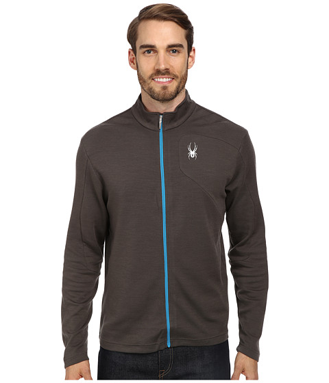 Spyder - Eiger Wool T-Neck Top (Osetra/Osetra/Electric Blue) Men