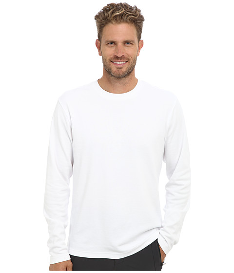 Spyder - Pump Dry W.E.B. Crew (White) Men's Long Sleeve Pullover