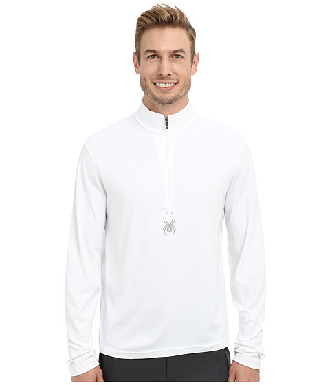 Spyder - Silver Drip Dry W.E.B. T-Neck Top (White) Men
