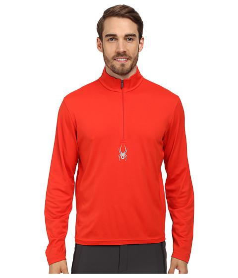 Spyder - Silver Drip Dry W.E.B. T-Neck Top (Volcano) Men's Long Sleeve Pullover