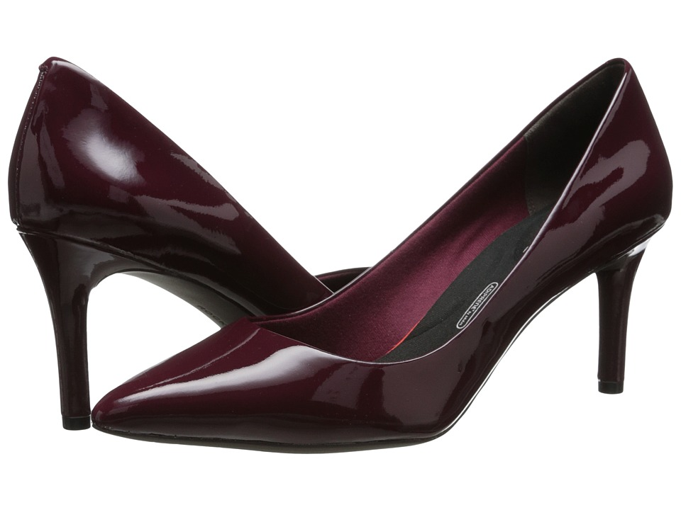 Rockport - Total Motion 75mm Pointy Toe Pump (Windsor Wine Patent) High Heels