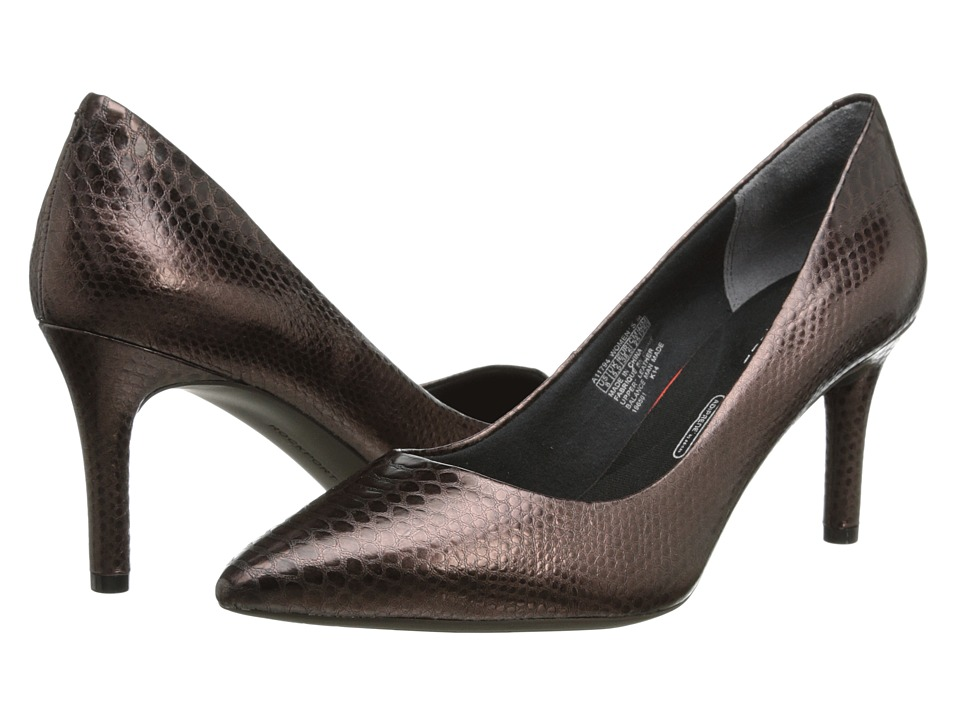Rockport - Total Motion 75mm Pointy Toe Pump (Bronze Python) High Heels