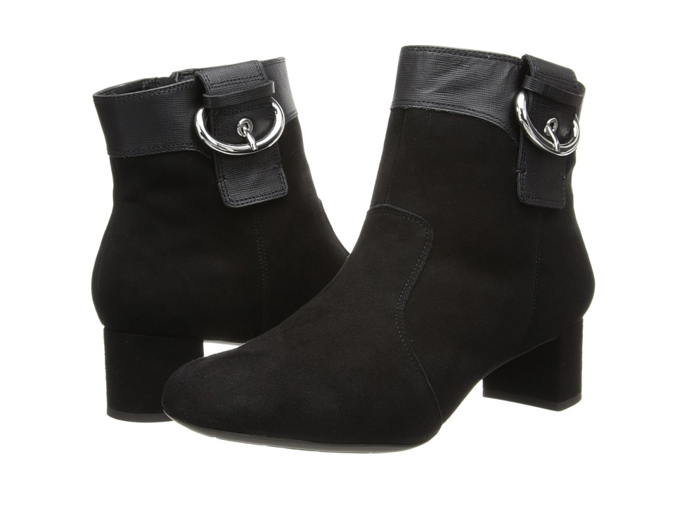 Rockport - Total Motion 45MM Block Heel Bootie (Black) Women's Boots