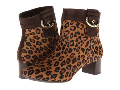 Rockport - Total Motion 45MM Block Heel Bootie (Brown Leopard) Women