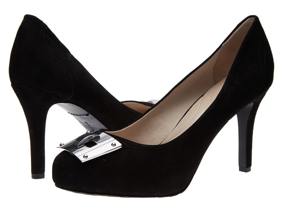 Rockport - Seven To 7 95mm Key Lock Pump (Black Suede) High Heels