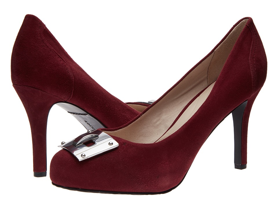 Rockport - Seven To 7 95mm Key Lock Pump (Windsor Wine Suede) High Heels